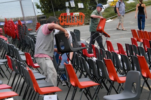 Putting out the seating