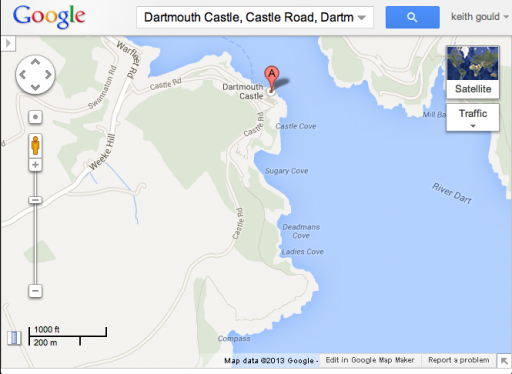 Dartmouth Castle on Google Map